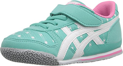 onitsuka-tiger-kids-by-asics-baby-girls-ultimate-81-ts-toddler-turquoise-white-9-toddler-m