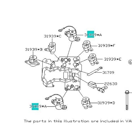SUBARU Genuine OEM Auto Trans Control Solenoid Transmission 31939AA191  Automatic