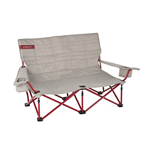 Kelty Low Loveseat Camp Chair - Tundra / Chili Pepper
