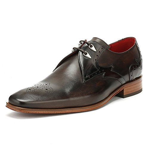 Jeffery West Hommes Dark Marron Echarpeace Brogue Toledo Chaussures