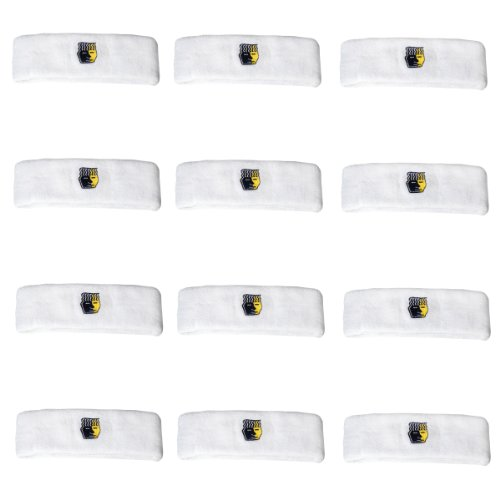 Brain-Pad Protective Headband-Pack of 12 (White)