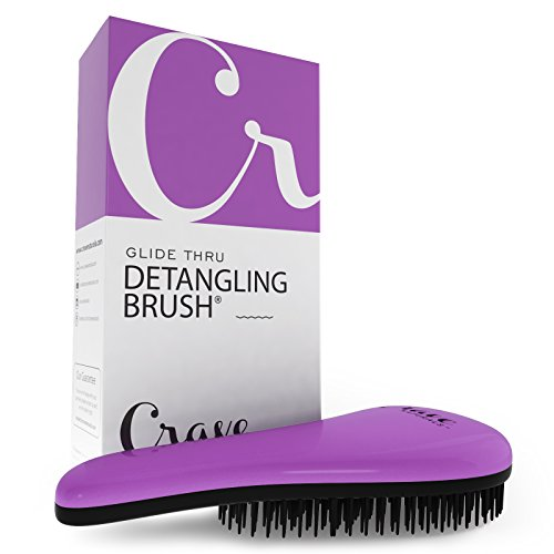 Crave Naturals Glide Thru Detangling Brush - Detangler Hair Brush for Adults or Children - Purple by Crave Naturals (Image #3)