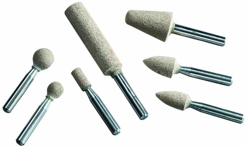 United Abrasives-SAIT 50365 W163 1/ 4x 1/2 by 1/4 A80GFX Cotton Fiber Mounted Point, 10-Pack