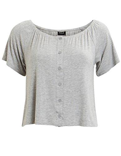 Vila Off Shoulders Top Clothes (S - Grey)
