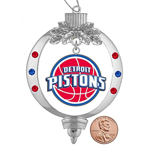 Final Touch Gifts Detroit Pistons Christmas Ornament