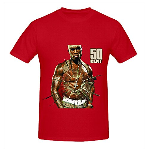 50 Cent Get Rich Or Die Tryin 80s Men O Neck Big Tall Tee Shirts Red