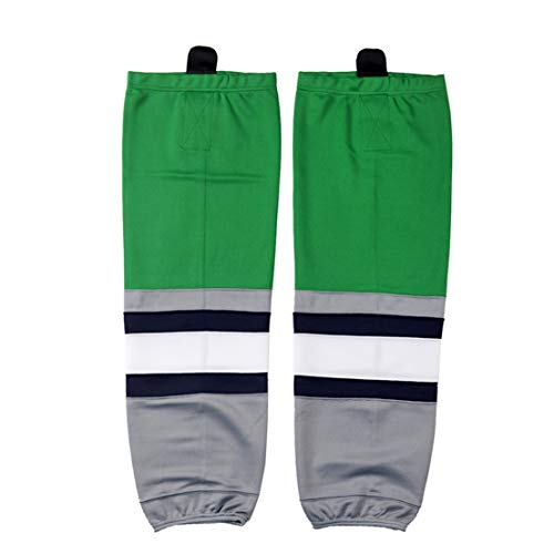 COLDINDOOR Hockey Socks, Adult Senior Team Jersey Knit Quick Dry Ice Hockey Socks Green L