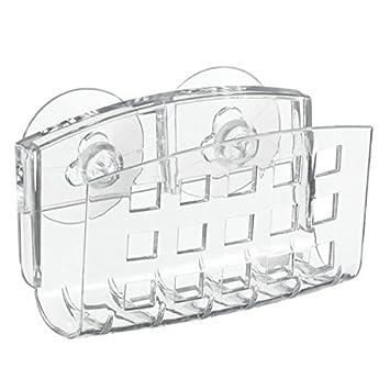 interdesign kitchen sink suction holder for soap sponges scrubbers clear. Interior Design Ideas. Home Design Ideas