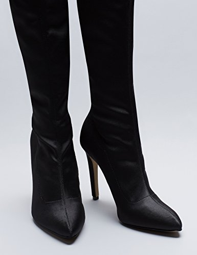FIND Women's Over The Knee Stretch Boot Black kxOQ2b