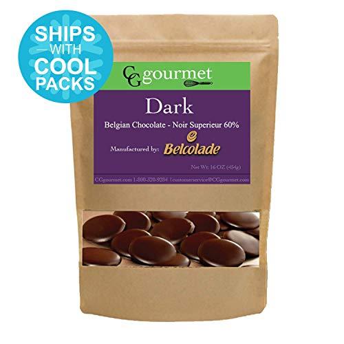 (Belcolade Belgian Baking Dark Chocolate Wafers - 16 OZ (1LB) Noir Supérieur 60%)