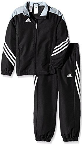 adidas Boys Tracksuit Woven Sereno14 Boys Presentation Football Training Suit Black/Silver/White 7-15 Years (140cm (Medium (Adidas Soccer Suit)