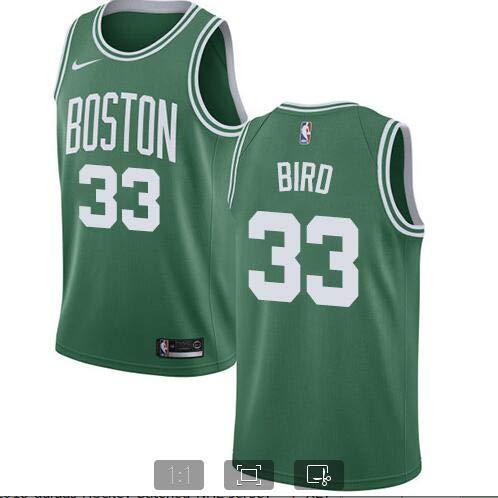 Men's Boston #33 Bird Kelly Green Swingman Jersey - Icon Edition (M)
