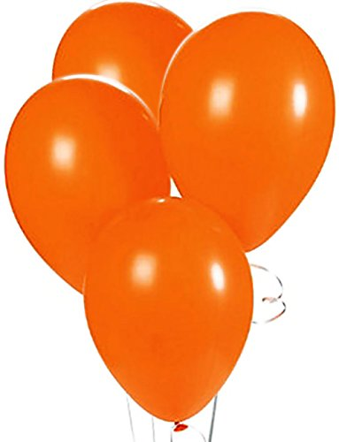 Custom, Fun & Cool {Big Large Size 12'' Inch} 1500 Bulk Pack of Helium & Air Latex Rubber Balloons w/ Modern Simple Celebration Party Special Event Decor Design [In Bright Orange] by mySimple Products