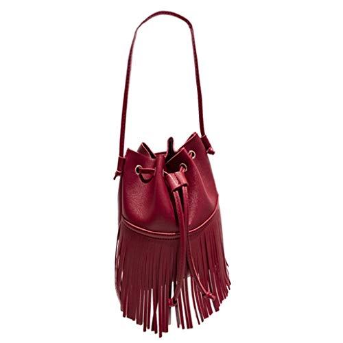 Borsa tracolla a donna Timemean rosso Fashion con a mano tracolla a fiocco donna Borsa 8XqaY5x