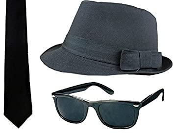 ILOVEFANCYDRESS NEW BLUES BROTHERS HAT 1c8afc768ee