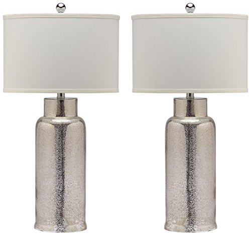 Safavieh Lighting Collection Bottle Glass Bronze 29-inch Table Lamp (Set of 2) (Lighting Glass Bottle)