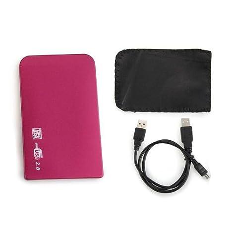 "USB 2.5"" Disco duro SATA HDD HD Externa Carcasa Caja + Funda"