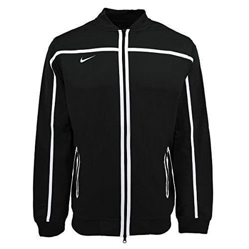 Nike Men's BB10 Warm-up Jacket Black/White (Mens Warm Up Jacket)