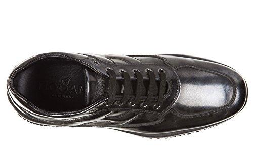 Hogan chaussures baskets sneakers femme en cuir interactive allacciata gris