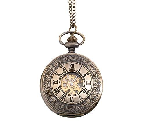 Lillian Rose JL270 2 Classic Mechanical Pocket Watch Groom Accessories, 1.75