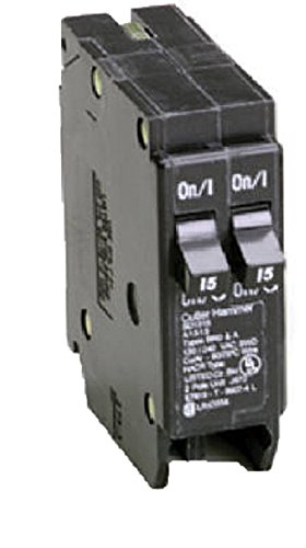 Amp Tandem Circuit Breaker - Eaton Corporation Bd3030 Single Pole Tandem Circuit Breaker, 120V, 2-15-Amp