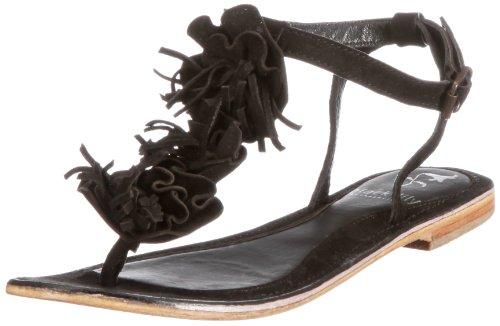 Black Lily kornelia sandal kornelia sandal - Sandalias de vestir de cuero para mujer Negro (Schwarz (Black))