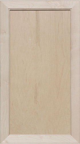 Flat Panel Cabinet Doors - Unfinished Maple Mitered Flat Panel Cabinet Door by Kendor, 34H x 19W