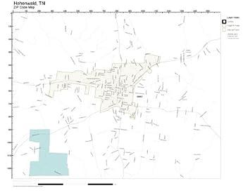 Hohenwald Tennessee Map.Amazon Com Zip Code Wall Map Of Hohenwald Tn Zip Code Map