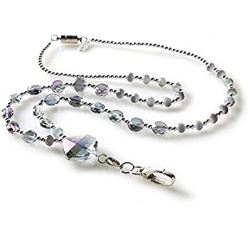 necklace statement multi colored station lanyard crystal products georgia silver
