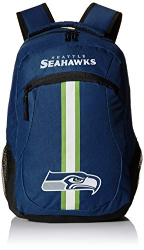Forever Collectibles NFL Seattle Seahawks Action Backpack, Team Color, One Size -