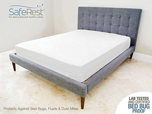 Saferest premium zippered mattress encasement lab tested for Bed bug resistant mattress