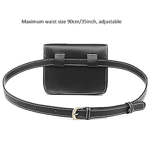 b026ed06a9bb Hotpaint PU Leather Vintage Fanny Pack,Fashionable Casual Bags,Retro  Stylish Fanny Bag Waist Bag for Women Girls(Black)