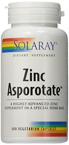 Solaray Zinc Asporotate 15mg VCapsules, 100 Count For Sale