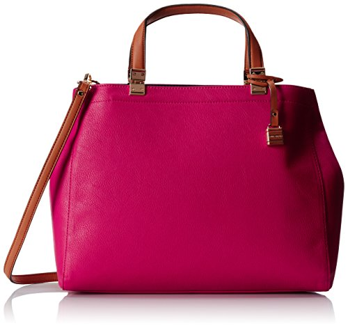 Tommy Hilfiger TH Hinge Convertible Shopper Shoulder Bag, Raspberry/Navy, One Size