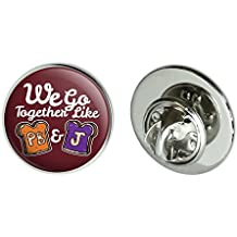 """Graphics and More Peanut Butter and Jelly Together PB&J Best Friends Metal 0.75"""" Lapel Hat Pin Tie Tack Pinback"""