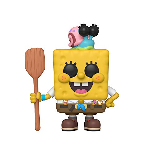 Funko Pop! Animation Sponge Bob - Spongebob in Camping Gear, Multicolor, Estandar