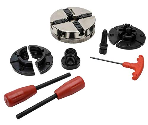 Best Price! PSI Woodworking CUG3418CC Utility Grip 4-Jaw Lathe Chuck System
