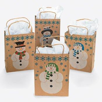 Medium Snowman Paper gift bags