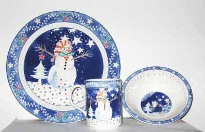 Noritake Epoch Collection u0026quot;Mr. Snowmanu0026quot; 12 Piece Dinnerware ... & Amazon.com | Noritake Epoch Collection