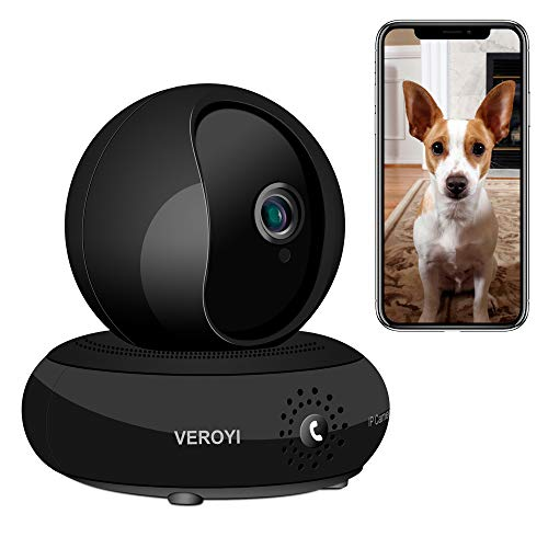 (Veroyi Wireless IP Camera HD 1080P WiFi Home Security Surveillance Camera, 120° Wide Angle, Two Way Audio Reverse Call, Night Vision Dome Camera)