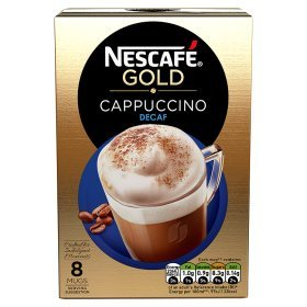 (Nescafe Gold Cafe Menu Cappuccino Decaff Instant Coffee Pack of 6 Boxes)
