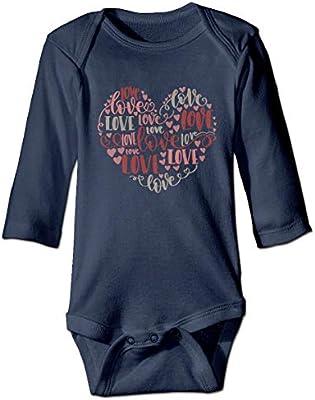 Te Amo Texto recién Nacido niñas niño niño bebé Mameluco Manga Larga Infantil Camisas para niños pequeños(18M,Azul Marino): Amazon.es: Deportes y aire libre