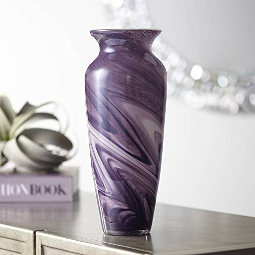 Universal Lighting and Decor Barton Purple Swirl 12 1/2