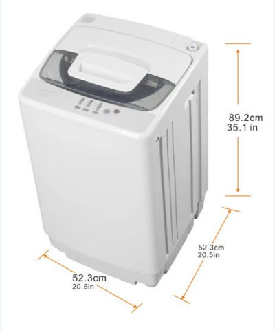 Home Comfort 1.7 Cu Ft / 12 Lb /5.5 kg Capacity Pulsator Washer with Ss Tub (Hcwp 1207)