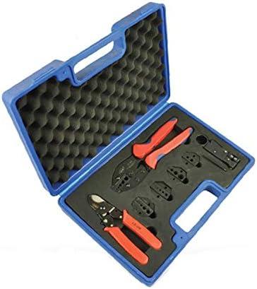 ケーブルカッター ワイヤーストリップペチ 圧着工具セット ケーブルカッター ストリッパー 交換可能な圧着ダイ 多機能ハンドツールセット 手動ケーブルカッター
