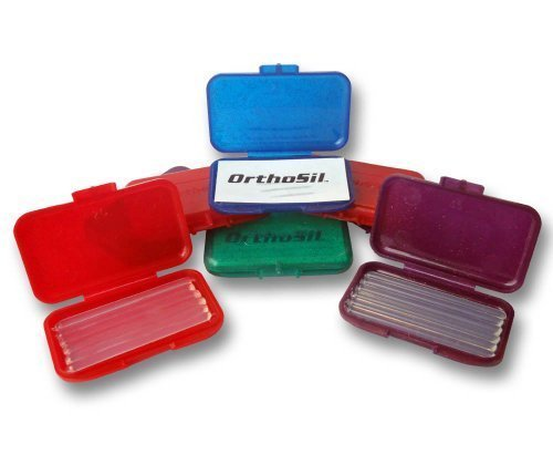 - Orthosil Silicone Wax ~ Relief for Orthodontic Braces 1 Box of 6 Strips ~ Colour Choices (Purple) by Orthosil