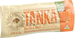 Tanka Bar Bites - Buffalo with Cranberries Apple and Orange Peel - 1 oz - Case of 12 - Gluten Free - 7 g protein