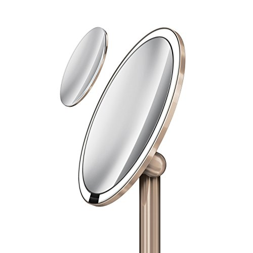 simplehuman sensor mirror pro 8 inch round lighted makeup. Black Bedroom Furniture Sets. Home Design Ideas
