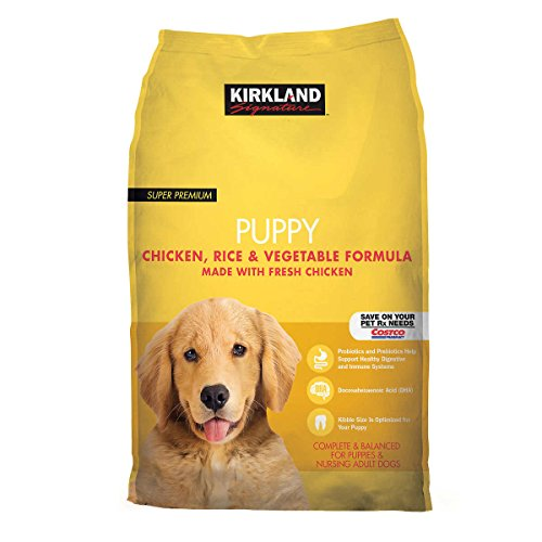 Kirkland Signature Puppy Formula Chicken, Rice and Vegetable Dog Food (20 lb)