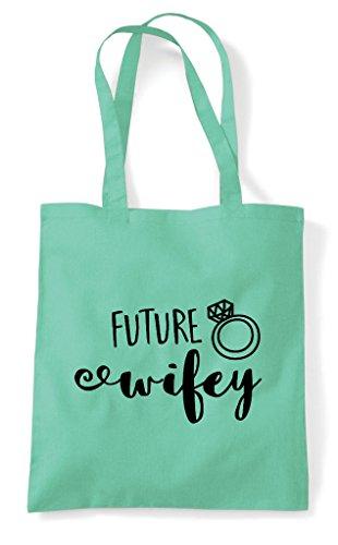 Mint Shopper Statement Wifey Announcement Tote Engagement Future Bag qT16w8PZ